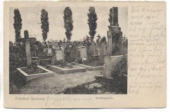 VERKAUFT !!!   AK Feldpost 1.WK Friedhof Quesnoy Heldengräber Frankreich 1916