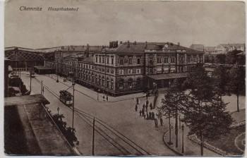 AK Chemnitz Hauptbahnhof 1911