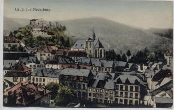 AK Gruß aus Neuerburg Totalansicht Ortsansicht Eifel 1920