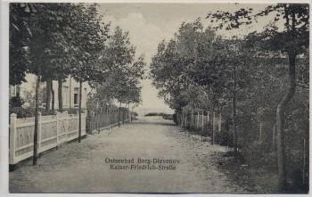 AK Ostseebad Berg Dievenow Dziwnów Kaiser-Friedrich-Straße Pommern Polen 1910 RAR