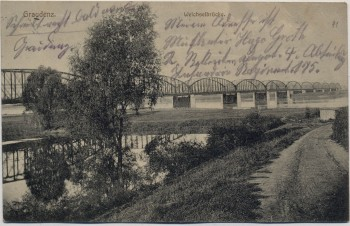 AK Graudenz Grudziądz Weichselbrücke Westpreußen Polen Feldpost 1915