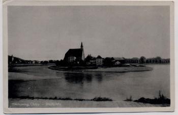 AK Tittmoning Oberbayern Stadtplatz mit See 1930