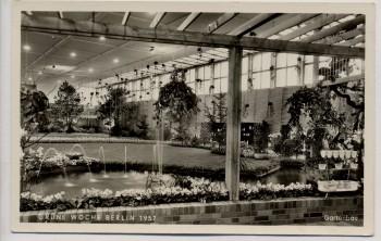 AK Foto Berlin Grüne Woche Gartenbau 1957