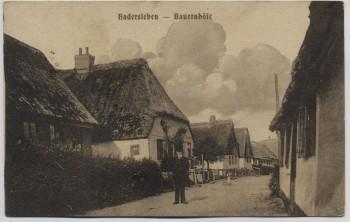 AK Haderslev Hadersleben Straßenansicht Bauernhöfe Feldpost Nordschleswig Dänemark 1917