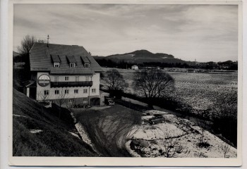 AK Foto Gasthof Pension bei Freilassing im Winter 1959