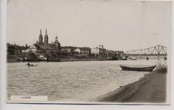 VERKAUFT !!!   AK Foto Leslau in der Weichsel Ortsansicht mit Brücke Włocławek Pommern Polen 1940