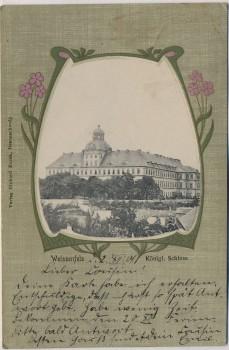 Passepartout-AK Weissenfels Königl. Schloss 1901