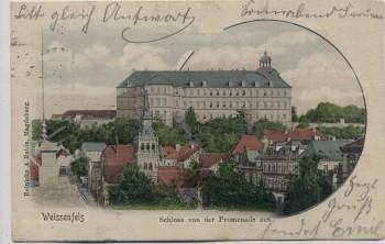 AK Weißenfels Schloss von der Promenade aus 1901