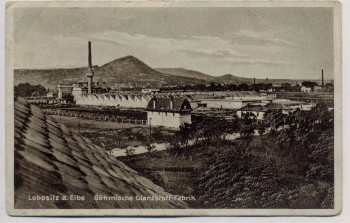 AK Lobositz a. Elbe Lovosice Böhmische Glanzstoff-Fabrik Böhmen Tschechien 1930