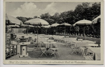 AK Moers Hotel Zur Trotzburg Terrasse 1935 RAR