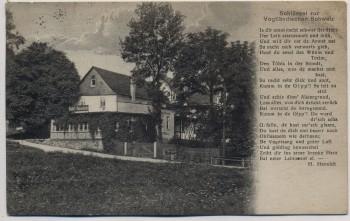AK Elsterberg im Vogtland Sommerfrische Gippenschänke mit Gedicht 1929