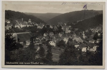 AK Foto Schalksmühle vom neuen Friedhof aus Ortsansicht 1933
