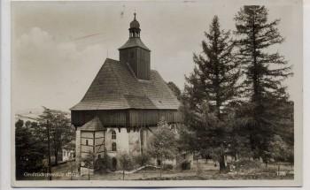 AK Foto Wehrgangkirche Großrückerswalde Erzgebirge 1934
