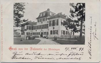 AK Gruß von der Fafanerie bei Meiningen 1899