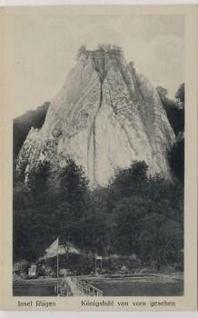 AK Insel Rügen Königstuhl von vorn gesehen bei Sassnitz 1910