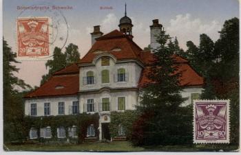 AK Sommerfrische Schwoika Svojkov bei Haida Schloß Böhmen Tschechien 1926 RAR