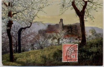 Künstler-AK Ansicht Burg Stempel Seifhennersdorf 1926