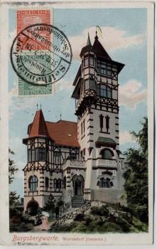 AK Warnsdorf Varnsdorf Burgsbergwarte Ostseite Böhmen Tschechien 1925