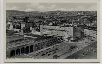 AK Stuttgart Blick vom Bahnhofturm auf Hindenburgbau und Hotel Graf Zeppelin Nachgebühr 1939