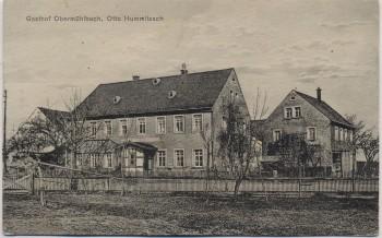 AK Mühlbach (Frankenberg) Gasthof Obermühlbach Otto Hummitzsch 1920 RAR