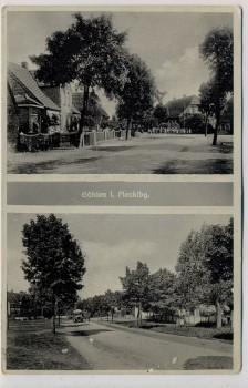 AK Göhlen in Mecklenburg Ortsansichten bei Ludwigslust Landpoststempel 1940 RAR