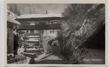 AK Foto Oberaudorf Burgtor im Winter 1930