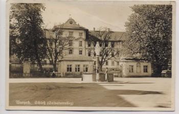 AK Foto Bad Wurzach Schloß Salvatorcolleg mit Brunnen Feldpost 1941