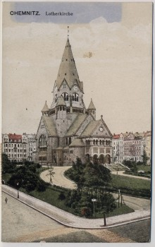 AK Chemnitz Lutherkirche 1910