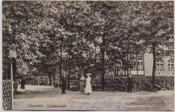 AK Chemnitz Partie an der Waldschänke Feldpost 1915