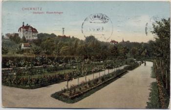 AK Chemnitz Stadtpark Rosen-Anlagen 1912