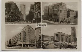 AK Mehrbild Stuttgart Hochbauten Tagblatt-Turmhaus Post Hauptbahnhof 1938