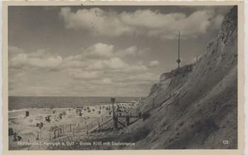 AK Nordseebad Kampen auf Sylt Rotes Kliff mit Badetreppe 1936