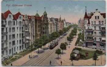 AK Kiel Holtenauer Straße Feldpost 1918