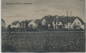 AK Gruß aus Borth b. Menzelen Rheinberg Alpen Niederrhein Ortsansicht 1921 RAR