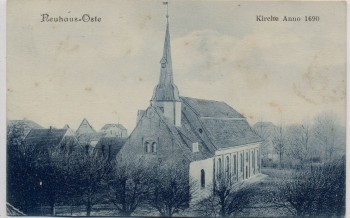 AK Neuhaus an der Oste Kirche Anno 1690 1909