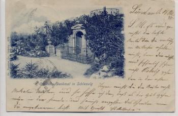 AK Carstens-Denkmal in Schleswig 1899