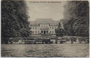 AK Herrenhaus Schloß Altenhof bei Eckernförde 1910