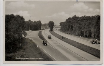 AK Foto Reichsautobahn Düsseldorf - Köln 1938 RAR