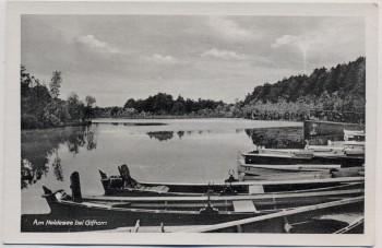 AK Am Heidesee bei Gifhorn mit Booten 1935