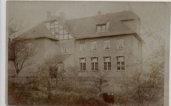 AK Foto Rositz in Thüringen Hausansicht mit Menschen 1917 RAR