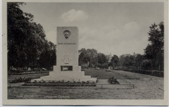 AK Foto Hamburg Rahlstedt Lillencron-Denkmal 1935