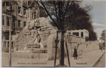 AK Osnabrück Brunnen am Herrnteichswall 1910