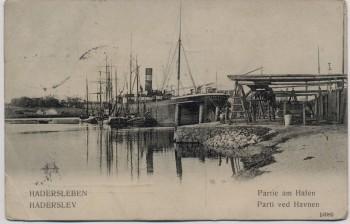 AK Hadersleben Haderslev Partie am Hafen Nordschleswig Dänemark 1911