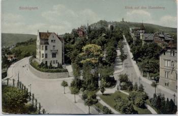 AK Stuttgart Blick auf den Hasenberg 1910