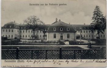 AK Berlin Pankow Buch Heimstätte von der Parkseite gesehen 1906
