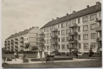 AK Foto Demmin Neubauten am Markt 1973