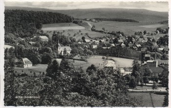 VERKAUFT !!!   AK Alme im Sauerland Ortsansicht bei Brilon 1957