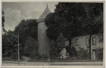 AK Recklinghausen Alter Stadtturm am Herzogswall 1935