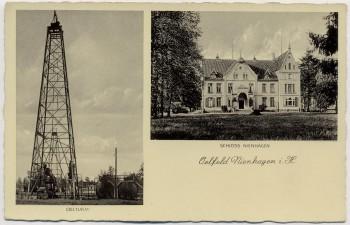 AK Nienhagen (Landkreis Celle) Schloss und Ölturm Niedersachsen 1935
