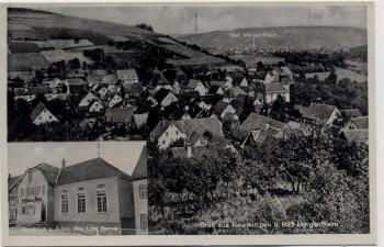 AK Gruß aus Neunkirchen bei Bad Mergentheim Ortsansicht mit Gasthaus z. Adler 1935
